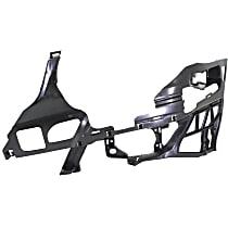 Front, Driver Side Bumper Bracket - Bumper Support, Outer Frame, Sedan/Wagon
