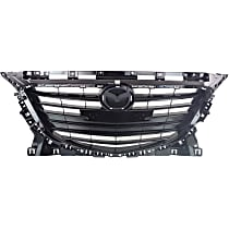 Grille Assembly - Black Shell and Insert, without Collision Warning