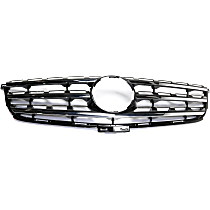 Grille Assembly - Painted Black Shell and Insert, CAPA Certified