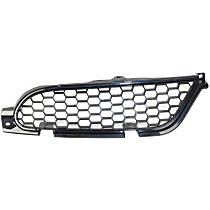 Grille Assembly - Painted Black Shell and Insert, Passenger Side