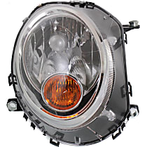 Passenger Side Halogen Headlight, With bulb(s) - Models Without Auto-Leveling, CAPA CERTIFIED