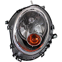 Driver Side Halogen Headlight, With bulb(s) - Models Without Auto-Leveling, CAPA CERTIFIED