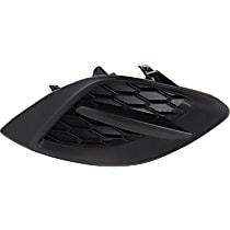 Driver Side Fog Light Cover, Textured Black