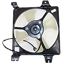 OE Replacement A/C Condenser Fan - Fits 2.4L, Passenger Side