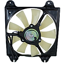 OE Replacement A/C Condenser Fan - Fits 3.8L, Passenger Side