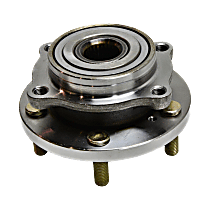 Front, Driver or Passenger Side Wheel Hub and Ball Bearing For AWD/FWD