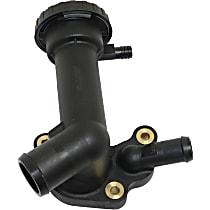 Replacement Thermostat Housing - Black, Plastic, Fits 2002-2008 Mini Cooper Only, Direct Fit