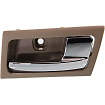 Interior Door Handle - Front or Rear, Passenger Side, Brown Bezel with Chrome Lever