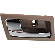 Interior Door Handle - Front or Rear, Driver Side, Brown Bezel with Chrome Lever