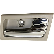 Interior Door Handle - Front or Rear, Passenger Side, Gray Bezel with Chrome Lever