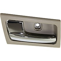 Interior Door Handle - Front or Rear, Driver Side, Gray Bezel with Chrome Lever