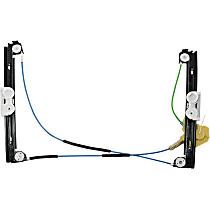 Front, Driver Side Power Window Regulator, Without Motor - Hatchback