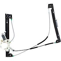 Front, Driver Side Power Window Regulator, With Motor - Hatchback