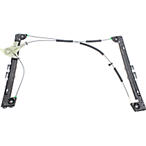 Front, Passenger Side Power Window Regulator, Without Motor - Convertible
