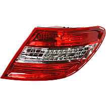 Passenger Side Tail Light, Lens and Housing, With LED Turn Signal, With Curve Lighting System, USA Type