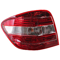 Driver Side Tail Light, With bulb(s) - Amber, Clear & Red Lens, w/o AMG Styling and Sport Pkg., (164) Chassis