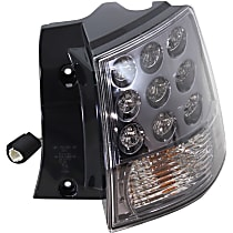 Passenger Side, Outer Tail Light, With bulb(s) - Clear Lens