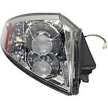Driver Side Tail Light, With bulb(s) - Clear Lens