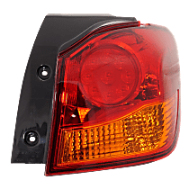 Passenger Side, Outer Tail Light, With bulb(s) - Amber & Red Lens, To 12-16