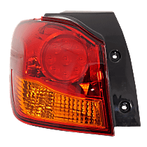 Driver Side, Outer Tail Light, With bulb(s) - Amber & Red Lens, To 12-16