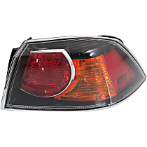 Passenger Side, Outer Tail Light, With bulb(s) - Clear Lens, 09-09, w/ Turbo, Exc. Sportback Models