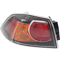 Driver Side, Outer Tail Light, With bulb(s) - Clear Lens, 09-09, w/ Turbo, Exc. Sportback Models