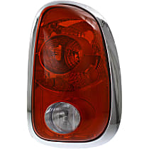 Passenger Side Tail Light, Without bulb(s) - Clear & Red Lens, and Socket