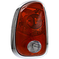 Driver Side Tail Light, Without bulb(s) - Clear & Red Lens, and Socket