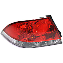 Driver Side Tail Light, Without bulb(s) - Clear & Red Lens, ES/LS Models, Sedan