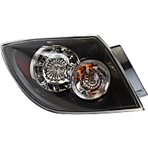 Driver Side Tail Light, With bulb(s) - Clear Lens, Hatchback