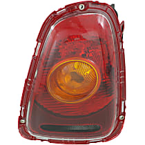 Passenger Side Tail Light, With bulb(s) - Amber Lens, Yellow Turn Indicator, Hatchback/Convertible 09-10