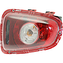 Driver Side Tail Light, With bulb(s) - Clear Lens, White Turn Indicator, Hatchback/Convertible 09-10