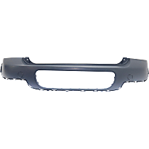Rear Bumper Cover, Primed - w/o Park Sensor & Chrome Molding Holes, Fits Base Model