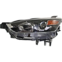 CAPA Certified Driver Side Halogen Headlight, Without bulb(s)