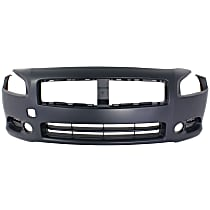 Front Bumper Cover, Primed - With fog light holes, CAPA CERTIFIED