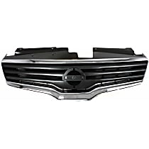 Grille Assembly - Chrome Shell with Painted Dark Gray Insert, CAPA Certified