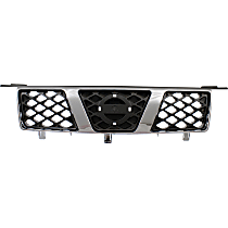 Grille Assembly - Chrome Shell with Painted Gray Insert
