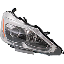 Sedan, Passenger Side Headlight, With bulb(s)