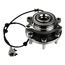 Front, Driver or Passenger Side Wheel Hub And Bearing Assembly, For 4WD