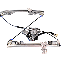 Front, Driver Side Power Window Regulator, With Motor - Fits 2002-2006 Altima