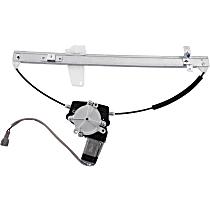 Rear, Driver Side Power Window Regulator, With Motor
