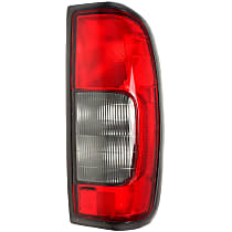 Passenger Side Tail Light, Without bulb(s) - Red & Smoked Lens, From 10/99