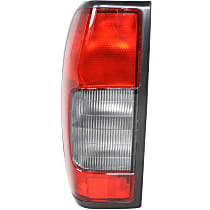 Driver Side Tail Light, Without bulb(s) - Red & Smoked Lens, From 10/99