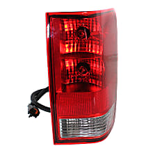 Passenger Side Tail Light, With bulb(s) - Clear & Red Lens, w/o Utility Compartment