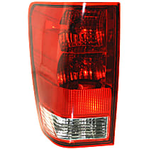 Driver Side Tail Light, With bulb(s) - Clear & Red Lens, w/o Utility Compartment