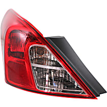 Sedan, Driver Side Tail Light, With bulb(s)
