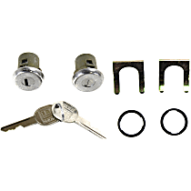 Door Lock Cylinder - Chrome, Direct Fit, Set of 2