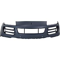 Front Bumper Cover, Primed - w/ Head Light Washer & Park Sensor Holes, Base/S Models