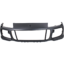 Front Bumper Cover, Primed - w/ Headlight Washer Holes, w/o Park Sensor Holes, Fits Turbo Model