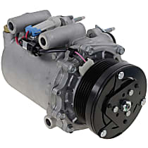 A/C Compressor, With clutch, 6-Groove Pulley; 3.4L. w/o Rear Air